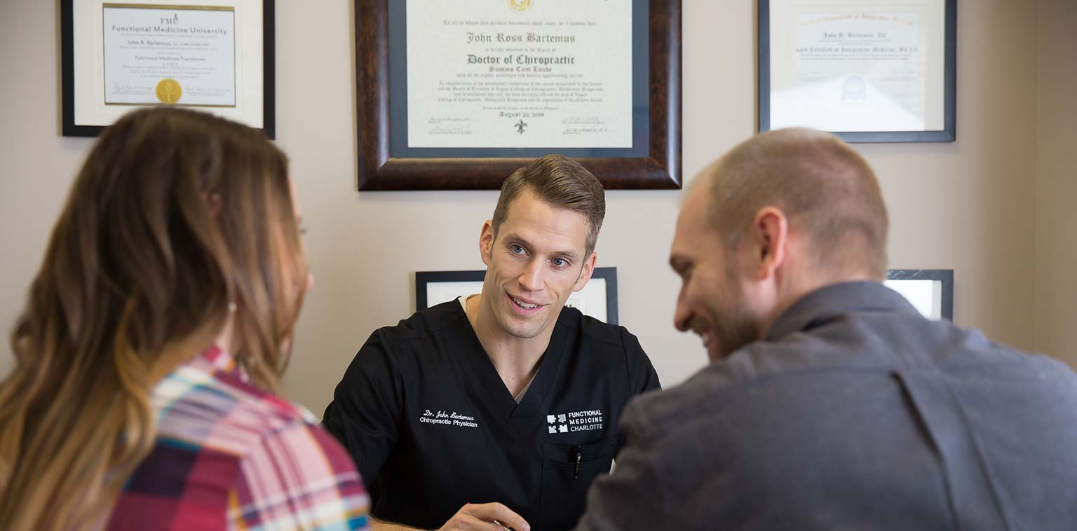 Dr. John Bartemus of Funtional Medicine Charlotte With Patients