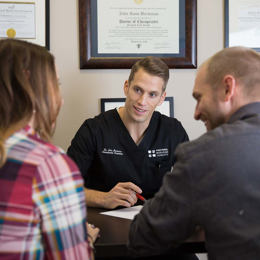 Dr. John Bartemus Of Functional Medicine Charlotte With Patients