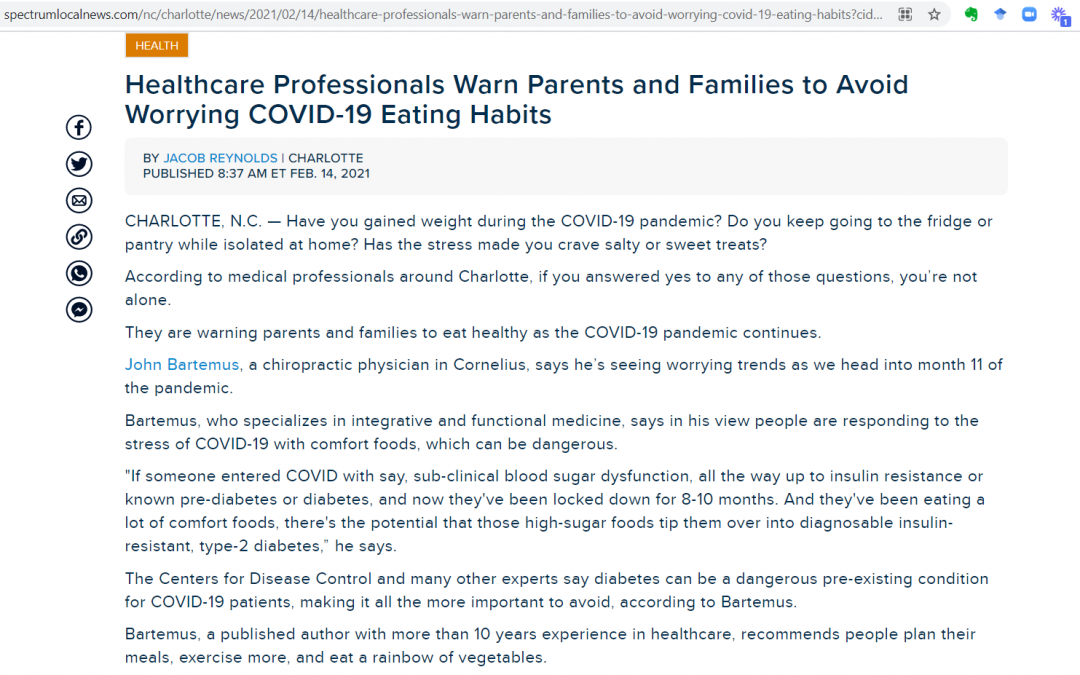 Worrying COVID-19 Eating Habits